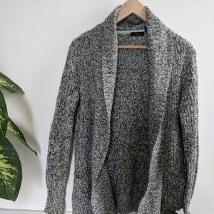 Grey heathered knit cardigan